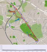 Swinton Five mile Multi Terrain Route with arror markers