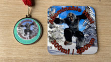 Abominable Snowman Coaster Medal