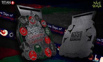 12 Days of christmas Medal