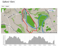 Salford 10k 2016 route