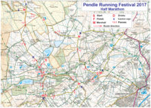 Pendle Half Route