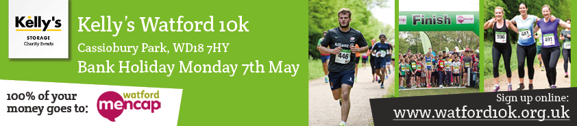 Email banner call out Kelly's Watford 10k 2018